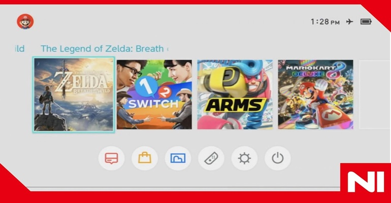 Nintendo Switch Interface