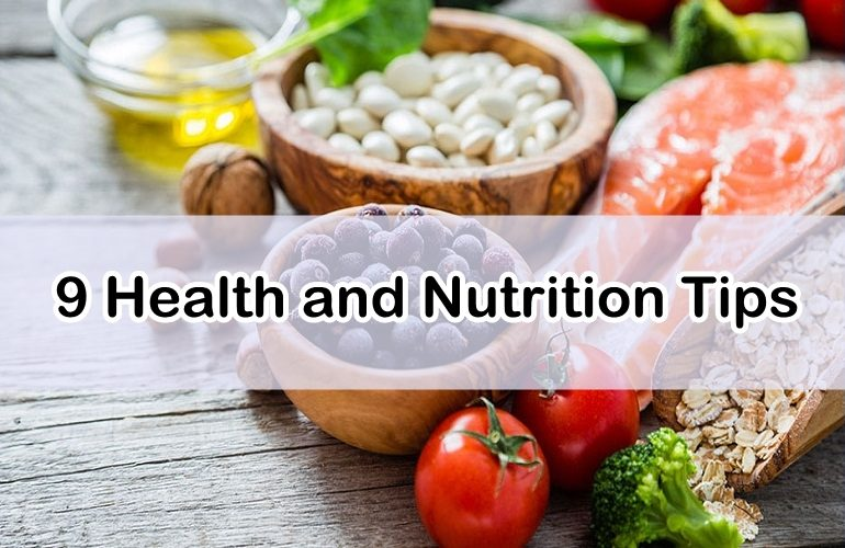 health and nutrition tips